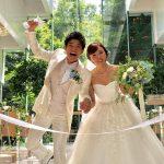 吉木りさ、ウエディングドレスで和田正人との2ショット