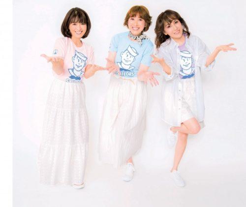 元おニャン子クラブ(左から)白石麻子、内海和子、立見里歌