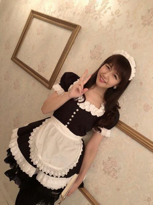 メイド服姿の井上喜久子