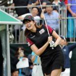 ゴルフの始球式に登場した稲村亜美