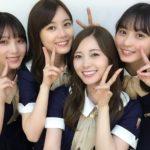 白石麻衣、生田絵梨花、与田祐希、遠藤さくら