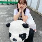 パンダさんと2ショットの宇垣美里